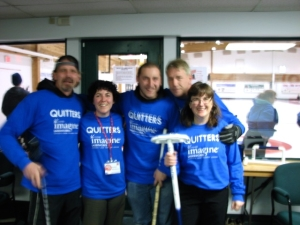 Imagine Laserworks Whitehorse curling team